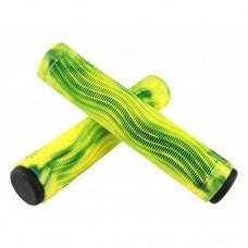 Грипсы AO Raptor Slim Swirl green/yellow