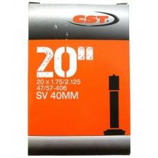 """Камера велосипедная CST 20""""x1,90/2,125 A/V 30 мм."""