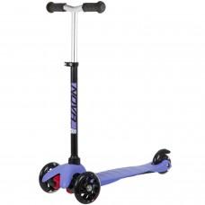 Самокат трехколесный Novatrack Disco-Kids Basic Черно-Фиолетовый