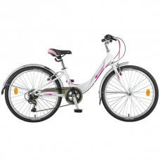 "Велосипед Novatrack ANCONA 24"" белый"