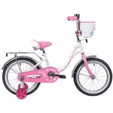 """Велосипед Novatrack Butterfly 16"""" бело-розовый 2020"""
