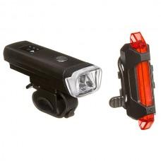 Фонари велосипедные STG комплект Usb 2000 mAH. С датчиком света