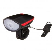 Фонарь велосипедный STG FL1551A передний USB с сигналом