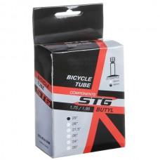 """Камера велосипедная STG, бутил, 29""""x1.75/1.95, автониппель 48 мм."""