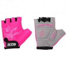 Перчатки детские розовые размер S