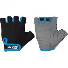 Перчатки черно-синие размер L