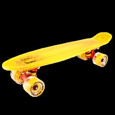 "Скейтборд пластиковый Tech Team Transparent 22"" Light Yellow"
