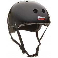 Шлем защитный Wipeout Teal Black (M 5+) с фломастерами черный