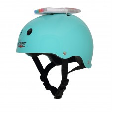Шлем защитный Wipeout Teal Blue (M 5+) с фломастерами бирюзовый