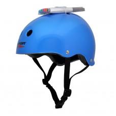 Шлем Wipeout Blue Metallic (L 8+) - синий с фломастерами