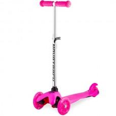 Самокат кикборд Novatrack Disco-kids розовый