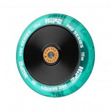 Колесо HIPE H05 110мм прозрачный/зеленый