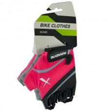 Перчатки розово-черные размер L
