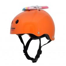 Шлем Wipeout Neon Tangerine (М 5+) с фломастерами оранжевый